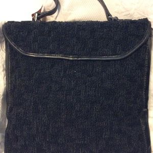 Jerry Terrence Bags - Jerry Terrence Vintage Black Carpet Bag